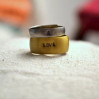 stackable love & rings | hand-stamped rings