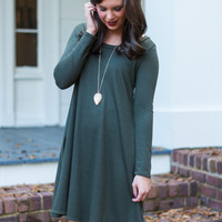 Cross My Heart Tunic, Olive