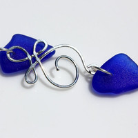 Cobalt Celtic Sea Glass Necklace by SeaglassReinvented