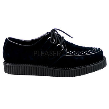 Demonia Black Suede One Inch Creepers