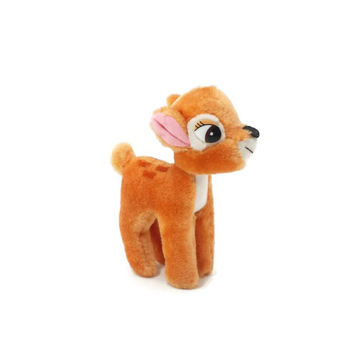 Vintage Walt Disney Bambi Plush, Stuffed Animal, Plushies, Deer, Doe, Fawn, 80's Toy, Disneyana, Collectible