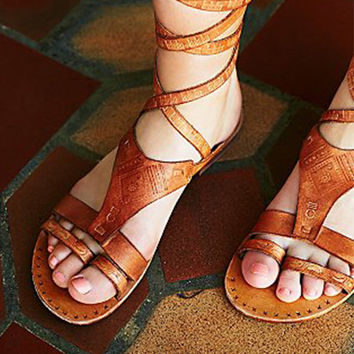 Free People Oliviera Wrap Sandal - Tan