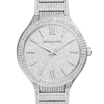 Women's Michael Kors 'Kerry' Pave Round Bracelet Watch, 38mm