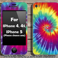 Tie dye skin for Iphone 4, 4s or Iphone 5 (Please choose your Iphone model)