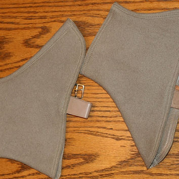 Vintage Denny wool spats, All wool spats, Gaiters