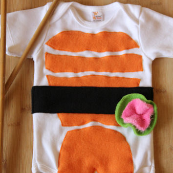 Sushi Baby Costume, Baby Halloween Costume, Long Sleeve Sushi Costume