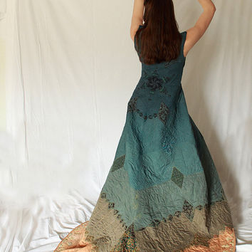 Quilted Ceremonial Goddess Robe Custom Wearable by elementalwear