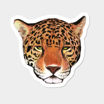 Jaguar Head Sticker By Savousepate Design By Humans