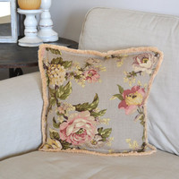 Floral Shabby Chic Pillow Case with Pillow Included