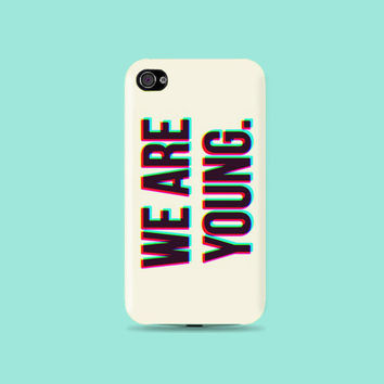 We are Young forever 3D Plastic Hard Case - iphone 5 - iphone 4 - iphone 4s - Samsung S3 - Samsung S4 - Samsung Note 2