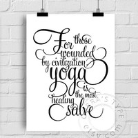Typography Art, Vector PDF - Yoga Quotation - Skandinavian Design, Motivational Poster, Gift, Card Making, Wall Decor CP-1007