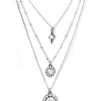 Rhinestone Layered Necklace