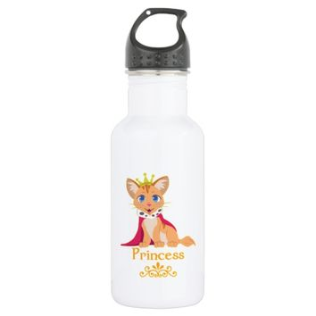 Princess Kitten Stainless Steel Water Bottle