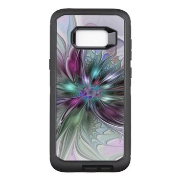 Colorful Fantasy Abstract Modern Fractal Flower OtterBox Defender Samsung Galaxy S8+ Case