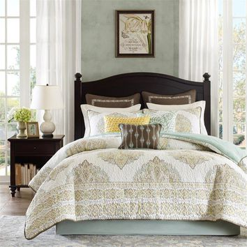 Mirimar Cotton Quilted Printed Comforter Bedding Set - Bedding | Harbor House