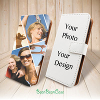 Custom photo picture personalized design wallet case for iPhone 6 6 plus 5 5S 5c iPhone 4 4S, moto X, samsung galaxy S5 S4 S3 Note 3 Note 4