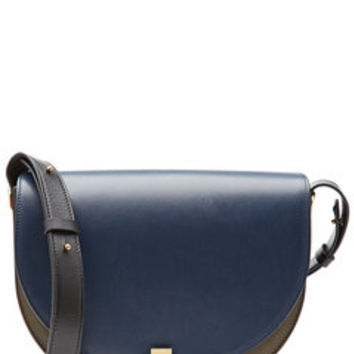 Two-Tone Leather Shoulder Bag - Victoria Beckham | WOMEN | US STYLEBOP.com