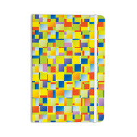 "Dawid Roc ""Multi Color Blocking"" Yellow Geometric Everything Notebook"