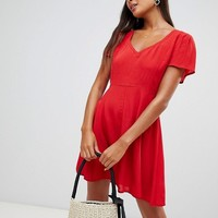 Miss Selfridge skater dress in red at asos.com