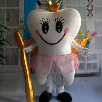 Tooth Fairy / Queen Tooth Mascot Costume