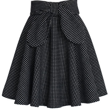 Delight in Dots A-line Skirt Multi