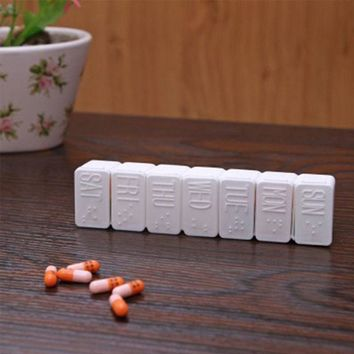 Medicine Weekly Storage Pill 7 Day Tablet Sorter Box Organizer At US STOCK
