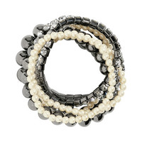 H&M - 7-pack Bracelets - Dark gray - Ladies