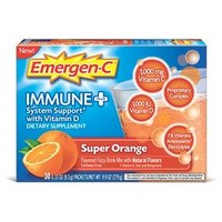 Emergen-C® Immune Plus® with Vitamin D Super Orange Dietary Supplement Powder - 30-0.33ozpkts