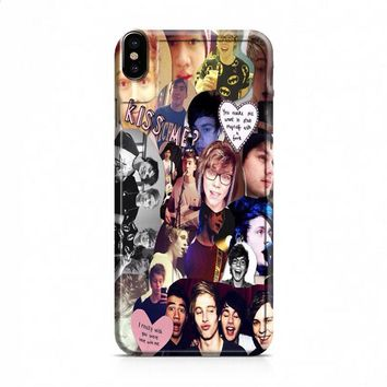 Michael Clifford 5sos Collage iPhone X case