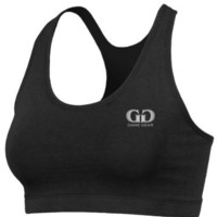 Women's Double Ply Front Sports Bra with Athletic Cut, Racer Back-Made with Odor Protective, Quick Dry, Flexible Fabric-Great for Tennis, Field Hockey, Running, and Outdoor Workouts-Available in Black and White-Sizes XS-XXXL