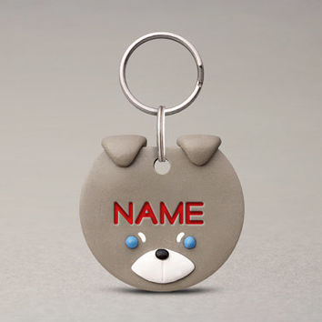 Husky Dog ID Tag - Fun Pet ID Tag, Personalized Name Tag For Dogs, Pet Lovers Gifts