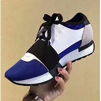 BALENCIAGA Blue fashion casual running shoes G