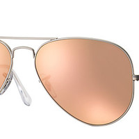 Ray-Ban RB3025 019/Z2 58-14 AVIATOR FLASH LENSES Silver sunglasses | Official Online Store US