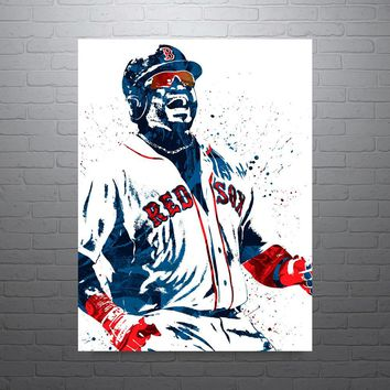 David Ortiz Boston Red Sox Poster
