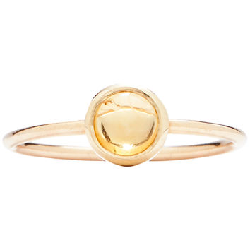 Gemstone Stacking Ring With Citrine