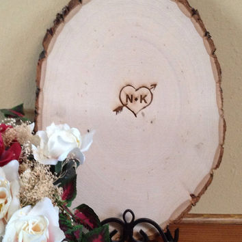 Personalized Wooden Rustic  Alternative Wedding Guest book for your wedding, shower or bridesmaids
