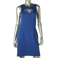 Guess Womens Laila Ponte Cut-out Casual Dress