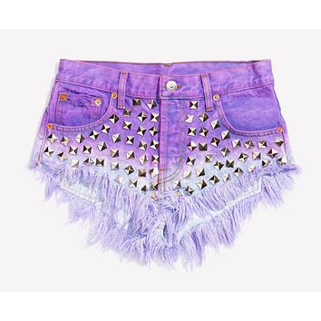 Wunderlust Vintage Dream Studded Babe Shorts