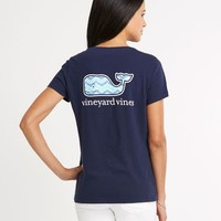 Whale Tail Chevron Pocket Tee
