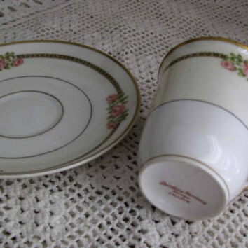 Limoges, Theodore Haviland La France, Fine Bone China, Pretty Pink Rose Demitasse And Saucer, Perfect Addition To Any China Collection
