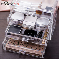 CHOICE FUN New Arrival 4 Drawers Organizing Boxes Glossy Acrylic Drawer DIY Washable Jewelry Box Large Jewelry Box SF-1540-4