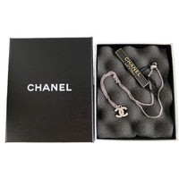 Chanel Swarovski Diamante Silver Classic CC Necklace