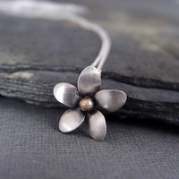Plumeria Pendant, hawaiian Frangipani Flower, Flower jewelr, Silver Plumeria, Handmade, gift unde 45 Gifts for her