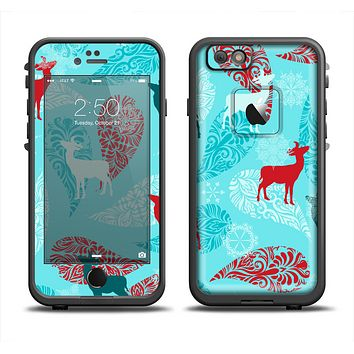 The Blue Fun Colored Deer Vector Apple iPhone 6 LifeProof Fre Case Skin Set
