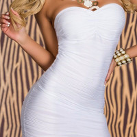 Strapless White Bodycon Dress
