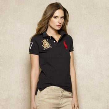 NEW POLO RALPH LAUREN SHIRT WOMEN SHORT SLEEVE T-SHIRT