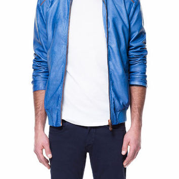 FAUX LEATHER JACKET WITH ZIPS ON SHOULDERS - Jackets - Man | ZARA United States