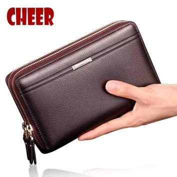 NEW men's wallet men purse Clutch luxury wallets Casual phone bag High capacity men money clip purse for coins luxury wallet