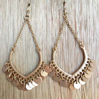 Tambourine Earrings in Gold