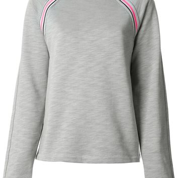 T By Alexander Wang contrast stripe detail sweatshirt